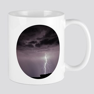 Lightning over Arches National Park Mugs