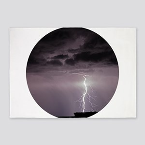 Lightning over Arches National Park 5'x7'Area Rug