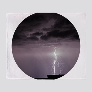 Lightning over Arches National Park Throw Blanket