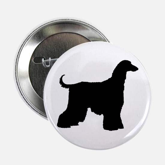 Afghan Hound Dog Button