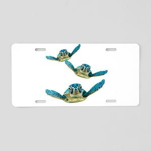 Baby Sea Turtles Swimming Aluminum License Plate