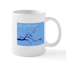 Personalize Merry Christmas Blue Birds Mugs
