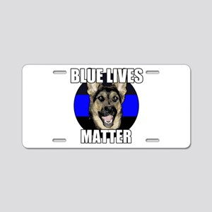 Blue lives matter 2 Aluminum License Plate
