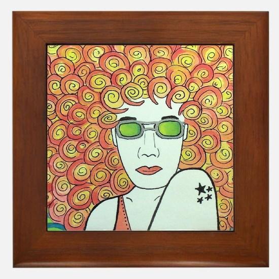 Cute Ginger haired Framed Tile
