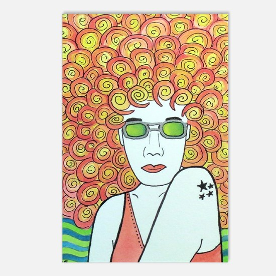 Cool Afro Postcards (Package of 8)
