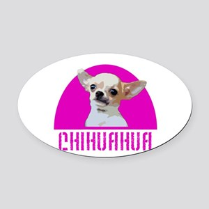 Chihuahua Dog Oval Car Magnet