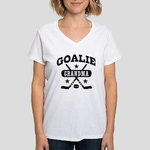 Goalie Grandma Women's V-Neck T-Shirt