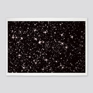 black starry night 5'x7'Area Rug