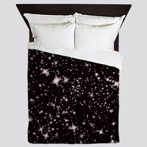 black starry night Queen Duvet