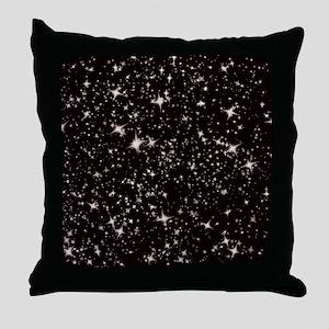 black starry night Throw Pillow