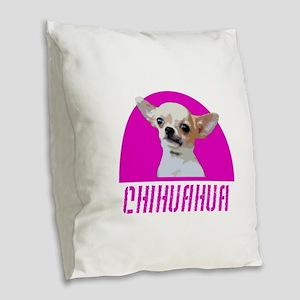 Chihuahua Dog Burlap Throw Pillow