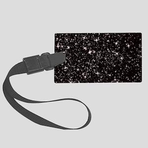black starry night Large Luggage Tag