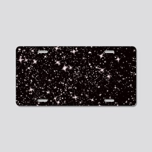 black starry night Aluminum License Plate