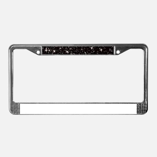 black starry night License Plate Frame