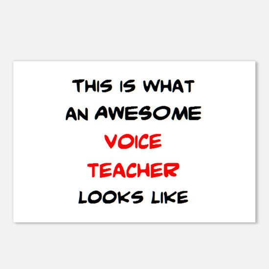 awesome voice teacher Postcards (Package of 8)