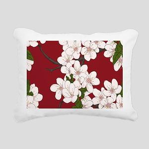 Cherry Blossoms Rectangular Canvas Pillow