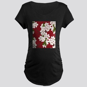 Cherry Blossoms Maternity T-Shirt
