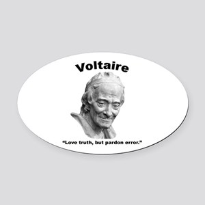 Voltaire Truth Oval Car Magnet