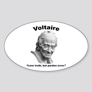 Voltaire Truth Sticker (Oval)