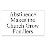 Abstinence Rectangle Sticker