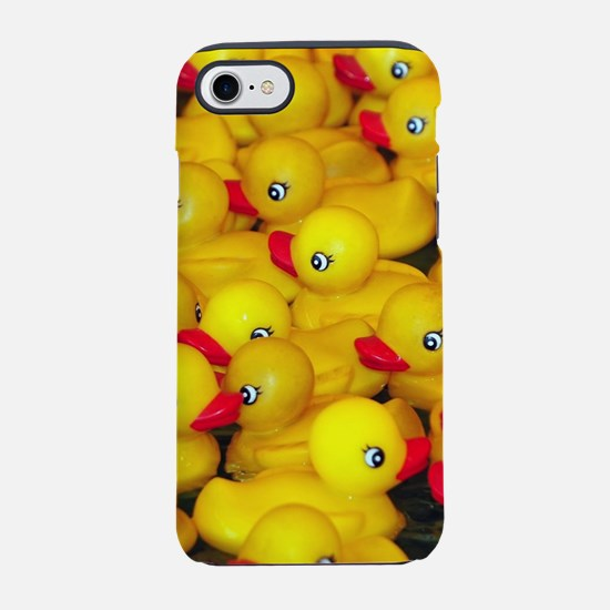 Cute yellow rubber duckies iPhone 8/7 Tough Case