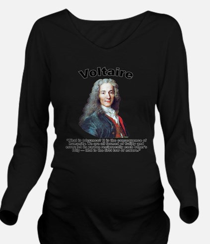 Voltaire Tolerance Long Sleeve Maternity T-Shirt
