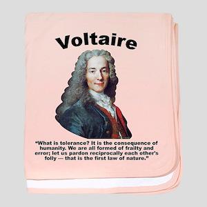Voltaire Tolerance baby blanket
