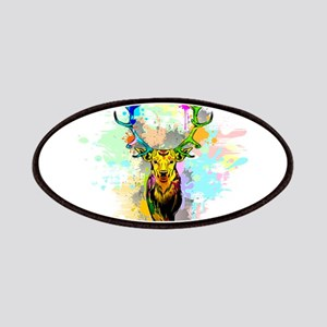 Deer PopArt Dripping Paint Patch