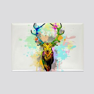 Deer PopArt Dripping Paint Magnets