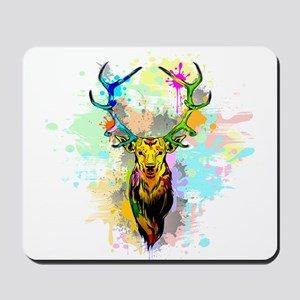 Deer PopArt Dripping Paint Mousepad