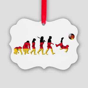 German Football Evolution Ornament