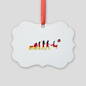German Football Evolution Ornament
