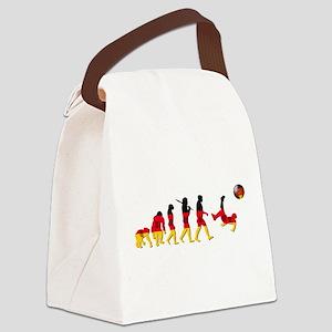 German Football Evolution Canvas Lunch Bag