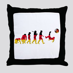German Football Evolution Throw Pillow