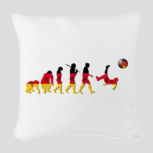 German Football Evolution Woven Throw Pillow
