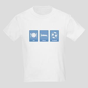 Eat Sleep Football Kids Light T-Shirt
