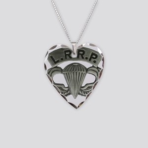 L.R.R.P. jump wings Necklace Heart Charm