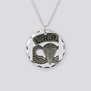 L.R.R.P. jump wings Necklace Circle Charm