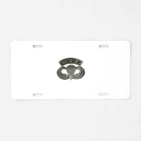 L.R.R.P. jump wings Aluminum License Plate