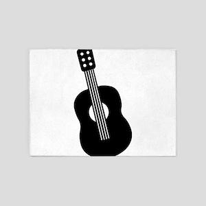 Guitar 5'x7'Area Rug