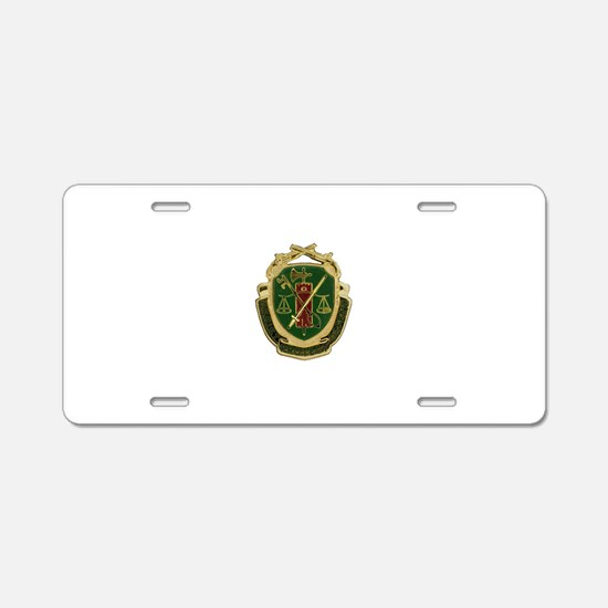 Military Police Crest Aluminum License Plate
