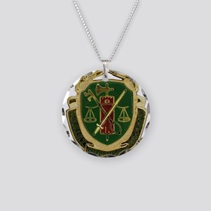Military Police Crest Necklace Circle Charm