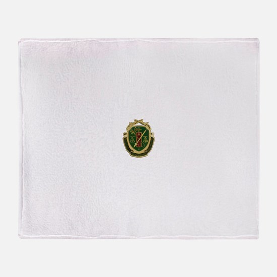 Military Police Crest Throw Blanket