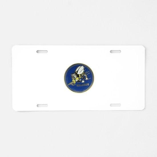 Seabees Aluminum License Plate