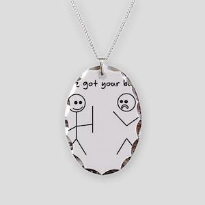 I've Got You Back Necklace Oval Charm