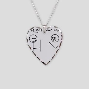 I've Got You Back Necklace Heart Charm