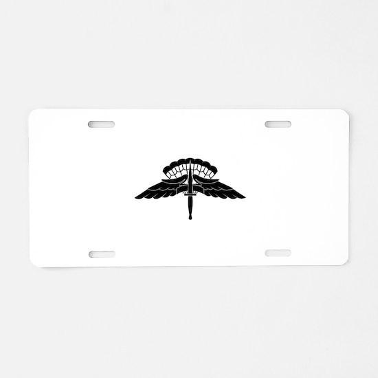 HALO Jump Wings Aluminum License Plate