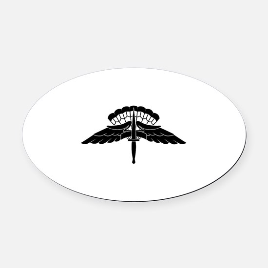 HALO Jump Wings Oval Car Magnet