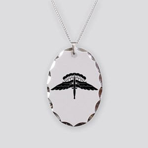 HALO Jump Wings Necklace Oval Charm