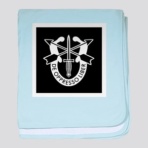 US Army Special Forces SF Green Beret baby blanket